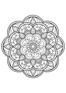 Mandala From Free Coloring Book For Adults 14