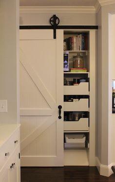 Barn door on closet