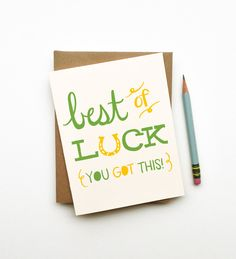 Best of Luck illustrated drawing good luck card by littlelow