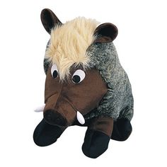Pet Lou Medium Plush Dog Chew Toy, Warthog by Pet Lou -- Visit the image link more details. (This is an affiliate link and I receive a commission for the sales) Dog Chew Toys, Dog Toys, Find Pets, Toy Boxes, Us Images, Pet Dogs, Pet Supplies, Whimsical, Plush