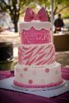 birthday cake - pink and white. cestsibonbakery