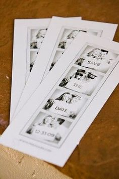 Cute idea to do a safe the date photobooth then make copies to send out :)