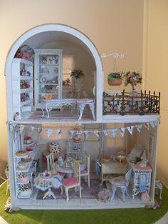 Lindas Miniature Musings: Shabby Chic Tea Salon :)