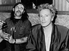 Lemmy and Johnny Rotten