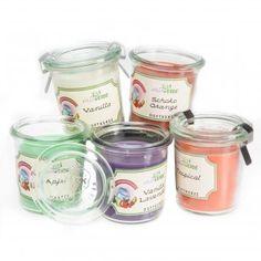 #design3000 Duftkerze im Einmachglas - 5 Kerzen im Einweckglas in verschiedenen Duftnoten.