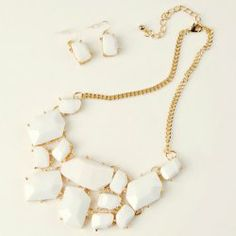 50ff35155eef10  7.49 Sweet Candy Color Multilayered Irregular Argyle Necklace and Earrings  Jewelry Tray
