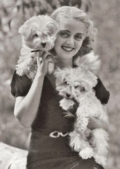 Bette Davis and her puppies.