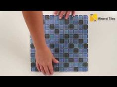 "Iridescent Glass Mosaic Tile Cottage Blend mesh mounted on a 12""x12"" sheet for Kitchen backsplash, bathroom, shower, spa, pool waterline, swimming pool, jacuzzi, floor, and wall. The individual tile size is 1"" x 1"" and 6mm thick. This product is sold by the sheet. - See more at: http://www.mineraltiles.com/iridescent-glass-tile-marine-cottage-blend/"