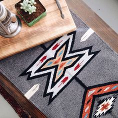 Mexican Navajo Textile Rug Table Runner By TylerKingstonWoodCo #textile  #rug #decor #southwest