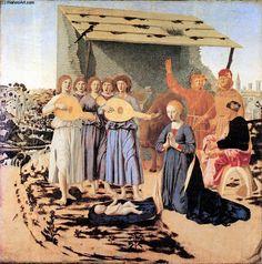 'Nativity', Oil On Panel by Piero Della Francesca (1415-1492, Italy)