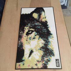 Wolf perler bead art by reconnu