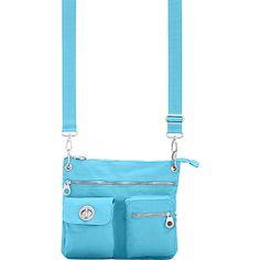 #FabricHandbags, #Handbags - baggallini Sydney Bagg Silver Hardware Dolphin - baggallini Fabric Handbags