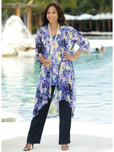 8662d4c50ba16 Plus size pants suits are also designed for plus size women who are too shy  to attend a party wearing dress. You can consider wearing plus size pants  suits ...