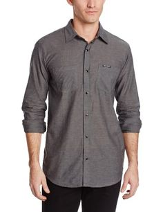 7f6899df12a Discrete Mens Button Up Shirt Gray Chambray Medium    Continue to the  product at the image link. Outdoor Stuff · Winter Hats for Men