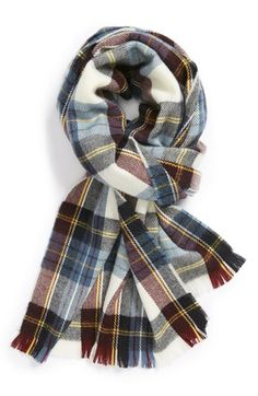 Topshop Plaid Scarf available at #Nordstrom
