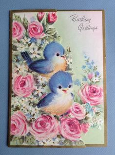 Vintage a new address greeting card with a bluebird on a mailbox vintage a new address greeting card with a bluebird on a mailbox with morning glories bluebirds pinterest vintage greeting cards vintage and m4hsunfo Image collections