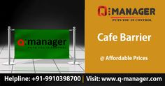 Innovative Q-Manager Café Barrier