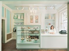 Image result for coffee shop pastry counter Bakery Cafe, Bakery Shops, Small Bakery, Cute Bakery, Cupcake Bakery, Cupcake Shops, Chocolate Shop, Bakery Display Case, Pastry Display
