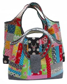 Learn How to Make a Quilted Purse in Quilt-As-You-Go Patchwork Bags