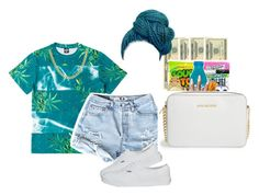 """""""Turquoise"""" by mamiyanna ❤ liked on Polyvore featuring Vans, OPTIONS, Michael Kors, Illesteva, Sterling Essentials and MICHAEL Michael Kors"""