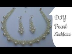 Pearl Necklace How to make Necklace with Pearl Choker Necklace Pearl beads Necklace Wedding Necklace - YouTube