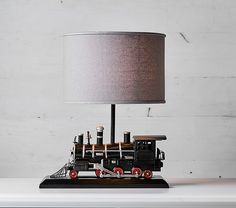 Express Train Complete Lamp   Pottery Barn Kids