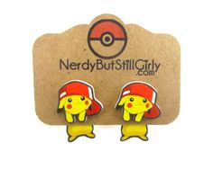 Pikachu Hat (Pokemon Inspired) Cling Earrings