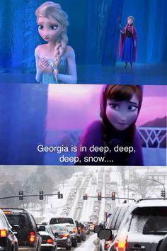 Elsa kind of set off an eternal winter...all over Georgia.