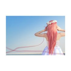 oh my god i want pink hair so much!  #polyvore #hair #people #girls #pictures #models
