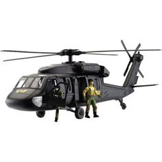 Giant Black Hawk Helicopter Playset