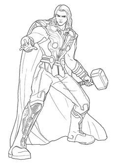 Voici un coloriage inédit des Avengers. Voici un dessin de ...