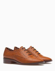 Sapatos blucher picados - TODOS - MULHER | Stradivarius Portugal