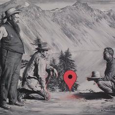 Los ubicacionistas (Óleo sobre lienzo. 60 x 80 cm. 2016)
