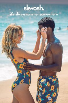 Stand our in style this summer in our new range of matching swimwear!
