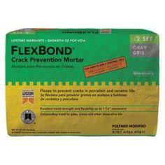 CBP Flexbond fortifed thin-set mortar in gray