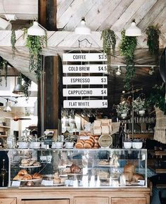 """The Butcher's Daughter is a plant-based restaurant, cafe, juice bar and """"vegetable slaughterhouse Cozy Coffee Shop, Small Coffee Shop, Coffee Shop Design, Coffee Cafe, Coffee Shops, Rustic Coffee Shop, Coffee Shop Menu, Breakfast Cafe, Breakfast Restaurants"""