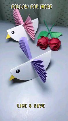 Paper Crafts For Kids, Paper Crafts Origami, Preschool Crafts, Easy Crafts For Kids, Diy Crafts Hacks, Diy Crafts For Gifts, Creative Crafts, Diy Crafts Videos, Paper Crafts Magazine