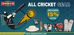 Ambersports.com offers a widest selection of online cricket equipments at the best price. Cricket Gears like Cricket Bats, Cricket Balls. Cricket Protective Gears like Batting and Wicket Keeping Gloves, Leg-Guards. Cricket Clothing like jersy, Shoes. Cricket Accessories like Cricket Packages, Cricket Souvenirs, Cricket Books, and Fitness Gears