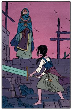 Necropolis-Jake wyatt the color palette is real nice. also I think the robes the figure is wearing could be interesting.