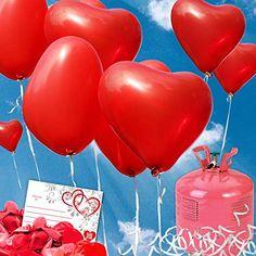 Beige Luftballons in 3 perfekt f/ür Hochzeiten thematys Just Married Party Ballon