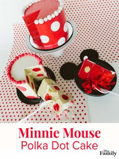 Celebrate #MinnieStyle with a recipe for a red and white polka dot cake with hidden dots inside of the cake too. Every day is National Polka Dot Day for Minnie Mouse.