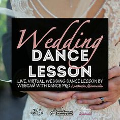 Enjoy a live virtual #wedding #dancelesson by webcam with #dance pro Anastassia Abramenko