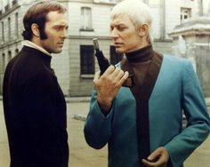 Still of Michael Billington and Ed Bishop in UFO (1969)