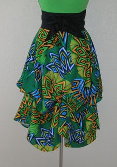 Exotic Bright African Inspired Fabric Lime Ballerina With A Gun Signature Skirt by Laurie Schafer for Ballerina With A Gun Festival Skirts, White Highlights, Full Circle Skirts, Coachella, Blue Orange, Ballerina, Royal Blue, Gun, Emerald