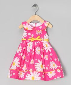 Take a look at this Pink Daisy Dress - Infant by Nannette on #zulily today!