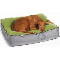 Buy this comfy dog bed for your best buddy, Bowsers Eco Tahoe Dog Bed large whistler gray-color by Bowsers Pet Products, $89.65 from Amazon.