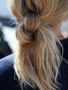If my hair ever gets long enough to tie into 2 knots, I like this.