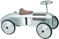Buy Silver Classic Metal Ride on Car by Goki available at The Toy Centre. Ideal ride on toy for toddlers. Bobby Car, Silver Car, Silver Metal, Ride On Toys, Rubber Tires, Courses, Car Ins, Educational Toys, Baby Toys
