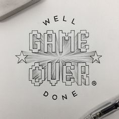Instagram media by anthonyjhos - Aaaaand it's over. Goodbye to the week that was. Friday. #tgif #typography #handdrawn #handtype #handlettering #lettering #graphicdesign #doodle #goodtype #typespire #typographyinspired #thedailytype #caligritype #gameover Typography Quotes, Typography Poster, Graphic Design Typography, Retro Typography, Japanese Typography, Typography Layout, Creative Typography, Calligraphy Letters, Typography Letters