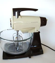 Sunbeam Mix Master:  The Kitchenaid of the 70's and 80's I think.